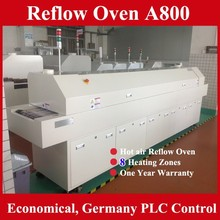Low Cost Hot air SMT Reflow Oven 8 Zones A800 for LED and PCB reflow soldering