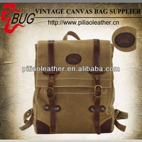 2014 latest Men's Vintage waxed Canvas backpack Rucksack laptop travel Camping bag