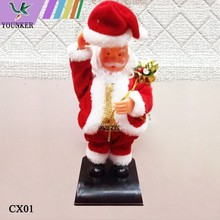 2015 Hot Sale 10 inch Musical And Dancing Santa Claus