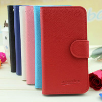 with credit card slots flip leather case for huawei ascend y320