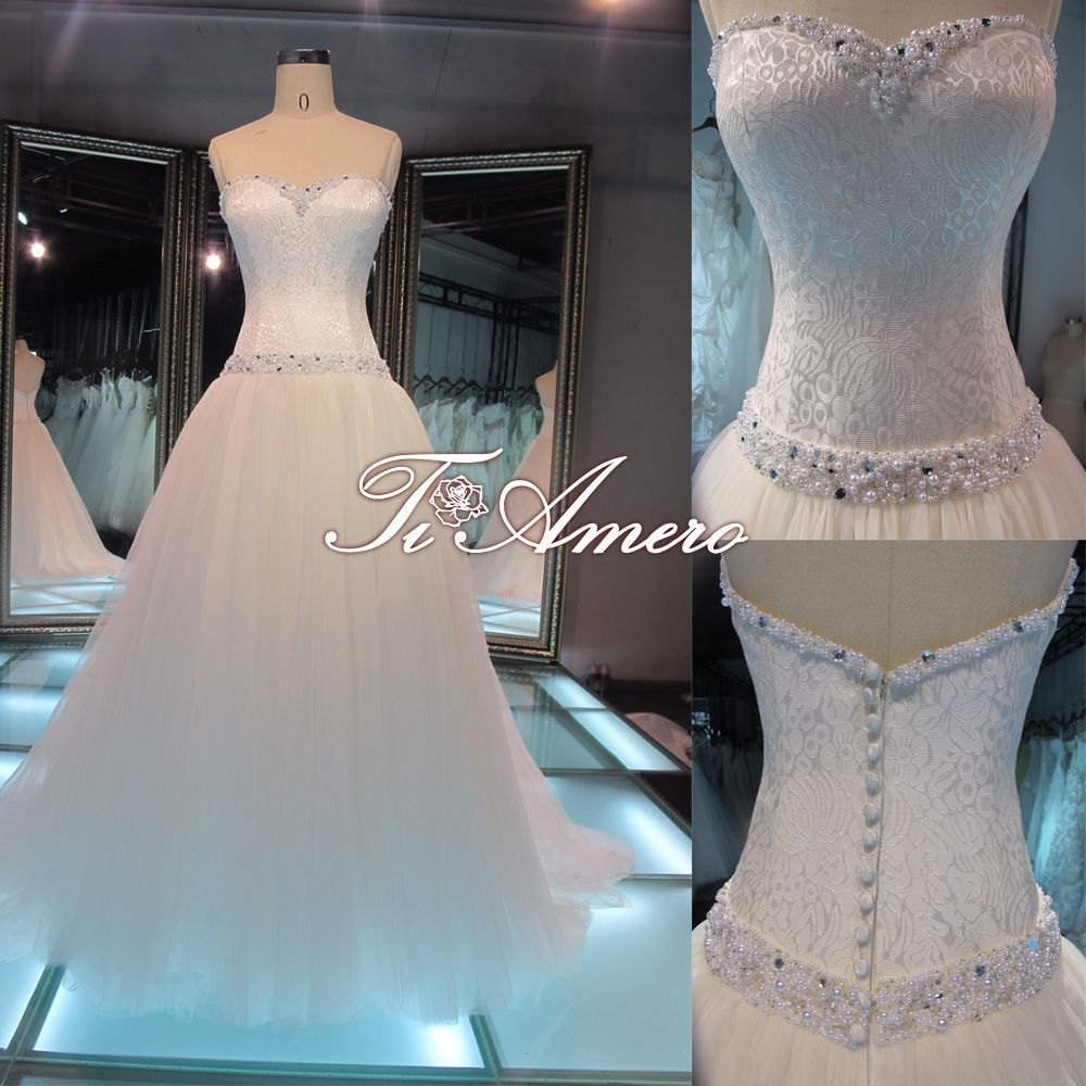 Sweetheart sheath pearl and diamond royal blue and white for Wedding dresses with pearls and diamonds