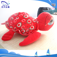 Lovely baby doll kids souvenir 100% pp stuffed animal /plush soft red carton turtle 2015 new baby toys