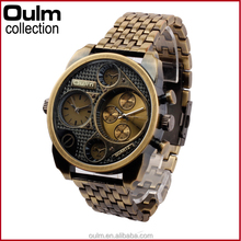 classics fashion oulm international wrist watch brands with high quality metal band