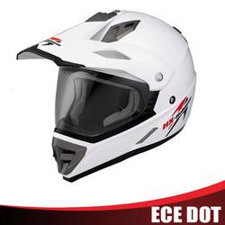 ECE white motocross racing helmets