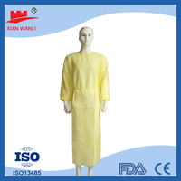 [On Sale]disposable yellow isolation gown