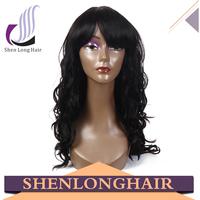 Beautiful charming wavy wig with bang, sexy cosplay wig, factory wholesale 100% kanekalon wig
