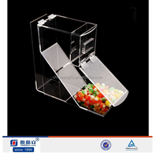 Top quality clear acrylic candy display containers for food,acrylic dry food dispenser