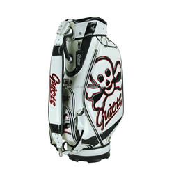 2015 Custom synthetic material golf bags with skull wholesale price OEM welcome