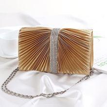 new style Fold evening bag Europe fashion one-Shoulder Handbag
