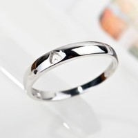 Size 5-10 Fashion Jewelry 925 Silver Heart Cut Wedding Promise Ring