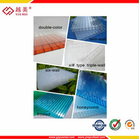 Ten years guarantee uv coated polycarbonate translucent greenhouse roof panels