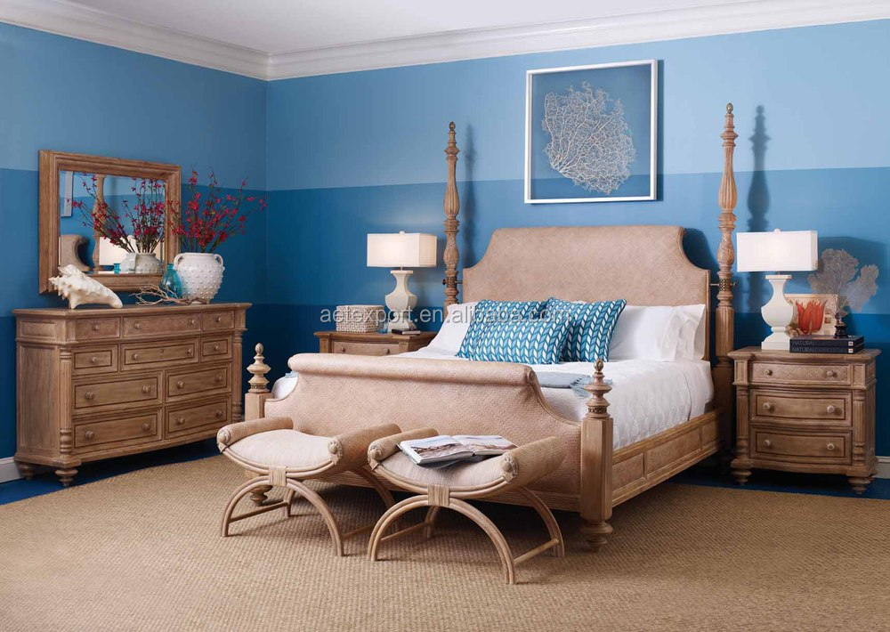 American country style solid wood king size bedroom for American furniture king bedroom sets