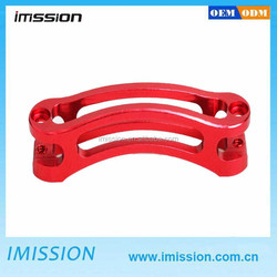 OEM and ODM cnc machining red anodized aluminum motorcycle factories spare parts china