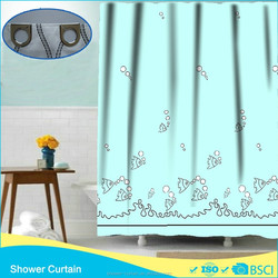 Shower Curtain Dots Fishes Printing
