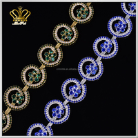 latest designs crystal rhinestone new gold chain design for women evening dress