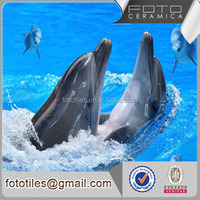 Foto dolphin playing decorative wall tile background wall tile