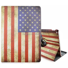 Tablet case super slim country flag pu leather 360 rotating case for ipad pro , for ipad pro leather case rotating