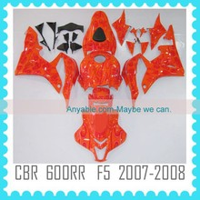 For HONDA CBR600RR F5 2007 2008 Motorcycle ABS custom racing fairing kit body kit body work special red flame