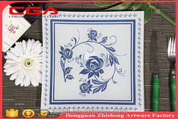 Guangdogn factory wholesale exquisite tableware handmade glass plate products chinese style design