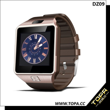 """2015 latest for Alibaba 1.56"""" DZ09 living waterproof, uwatch smart watch android dual sim Android /iOS Phone"""