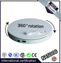 electric rotating display turntable Dia:50cm,H:6cm white/black 360 degrees rotation for model/fashion/clothing