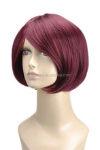 factory direct selling cosplay pink wig , ponytail cosplay wig, doll bjd hair wigs