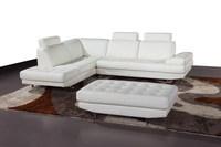 Modern white steel sofa furnitue with Ottoman L shaped sofa set 2015
