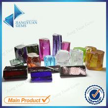 olive cubic zirconia rough synthetic diamonds
