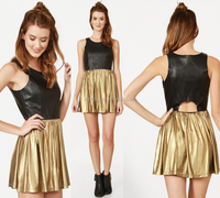 simple fashion design GOLD DRESS a new manifestation of modern life style of leisure
