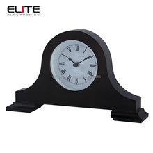 "Wood quartz antique table clock 10.6""*6.2"" with painting"