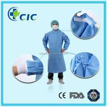 Medical disposable standard surgical gown with knitted cuff and have ISO 13485/FDA/CE/NELSON]