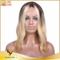 Root Color Invisible Part Lace Wigs In Dubai