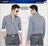 wholesale comfort casual dress men's shirt/Plaids long sleeve comfort casual shirt/latest design men shirts of 2015