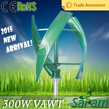 Rated 300W 12V/24V Vertical Axis Wind Turbine Price