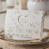 pocket wedding invitation card 2015 valentine's day paper box for greeting card