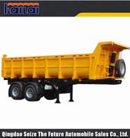 2015 hot sale 2 axle 30 ton capacity tipper trailer dump truck semi trailer