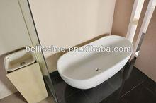 Mate de corian blanco de tamaño personalizado bs-8633 bañera