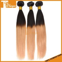 2015 Hot sale 3pcs grade 5A two tone 1b 27 honey blonde brazilian hair weave