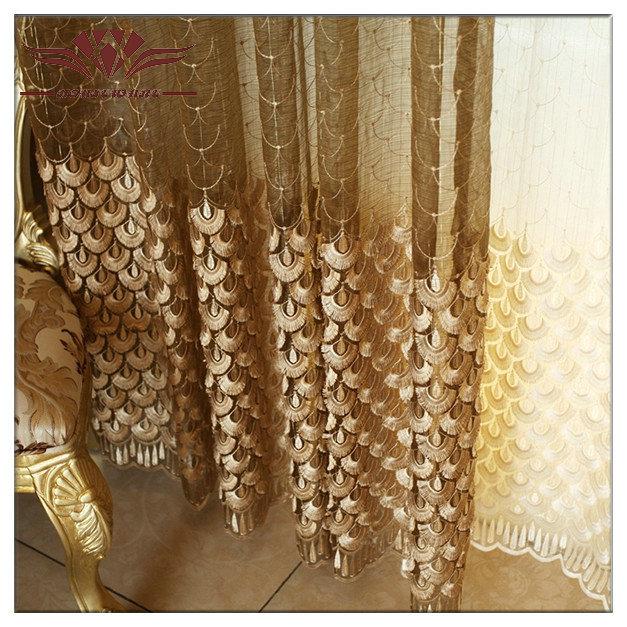 Cortina de organza tecidos, tela da cortina sheer, voile anilha