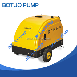 Portable Solid Wheels Hot Water High Pressure Washer For Gas Station