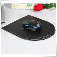 handmade pu luxury computer leather custom mouse pad with wrist rest