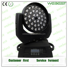 Guangzhou 36pcs 10w RGBW 4in1 led wash moving head zoom Fashion Show Light