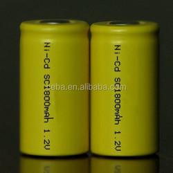 huanyu ni-cd 4/5sc1200mah rechargeable battery