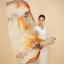 SD477 229-1 printed silk chiffon fabric summer dresses wholesale china scarves European style supplier alibaba china