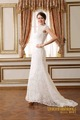 elegante de alta transparente cuello de encaje vestido de boda nupcial 2015 corto de manga larga cola cosecha de marfil cordón