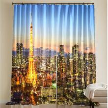 High definition photo 3D digital printed curtain fabric