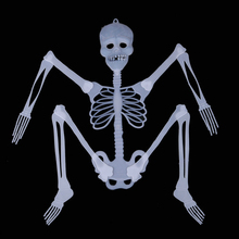 DJ-069yiwu caddy Glow in dark plastic Halloween decorative skeleton