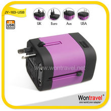 Gift & Premiums Use and Accept Customized logo/color 2500mA output universal travel adapters with USB charger accepted small MOQ