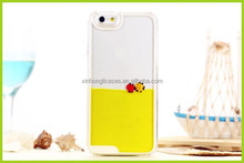2015 Newest Dynamic Sea World Colorful Liquid Fish Case For iphone 4 4s 5 5s Transparent Hard Cover with Swimming fish