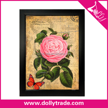 30X40cm Pink Rose Wall Hanging Decorative Printing Flower Picture
